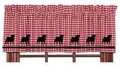 Pug Dog Window Valance Curtain   Red and White by paintedpooches, $29.50