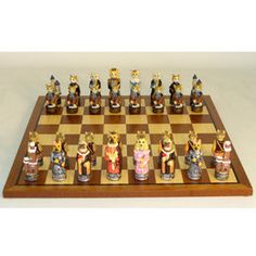 World Wise Imports Brookstone Cats and Dogs Chess Set
