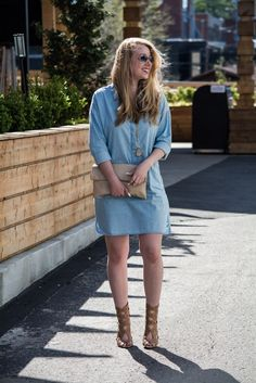 Caroline Margaret Studio | Nashville Style Blog, Denim Dress, Nashville Fashion, Casual Chic, Baggy Denim