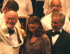 Steven Spielberg, Karen Allen and John Williams