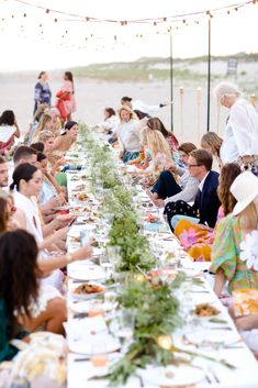 An intimate beach dinner with Zimmermann