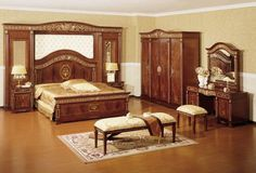 3 steps to perfecting master bedroom furniture sets - Designalls Solid Wood Bedroom Furniture, Wood Bedroom Sets, Wooden Bedroom, King Bedroom Sets, Bedroom Furniture Design, Bedroom Designs, Master Bedroom, Royal Furniture, Office Furniture