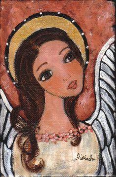 Angel III Art Print of original painting by Florinda by Florinda