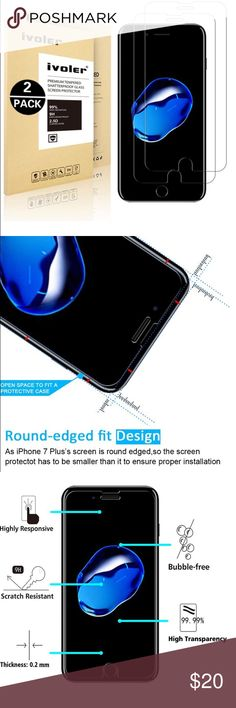 📱Electronics- iPhone 7 Screen Protector x2 Max protection from high impact drops, scratches, scrapes, bumps. Scratch resistant, Shatterproof, Perfect Clarity & Touchscreen Function. No Rainbow Screen. Bubble-free. Prevents sweat, oil & water residue. Anti-Shatter Film: If broken, tempered glass breaks into small pieces that arent sharp, making it safer than other products. Lifetime Warranty ✅Great deal!✅ Save with bundle discounts💰 I also offer customized bundles🛍  Interested? Leave a…