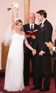 Jim and Pam Wedding. Loved the Dress, I wish I could find a front view of it.