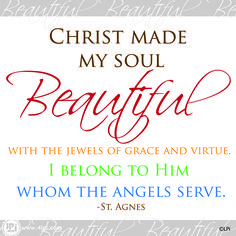 Christ made my soul beautiful #Clipart