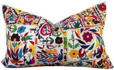 Image of Indian Embroidered Mirrorwork Pillow - 2 at Shoppe by Amber Interior Design