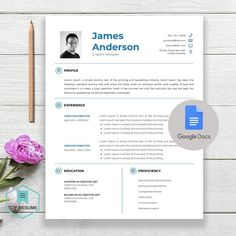 New Google Docs Resume, Google Docs Resume Template, Google Docs Template,  Instant Download