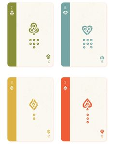 Mesoamerica Playing Cards: Number Cards