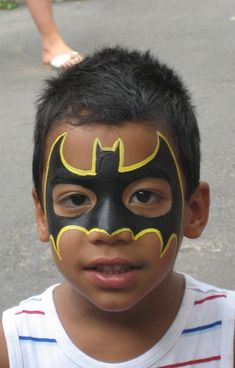 Cool batman face painting