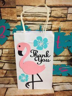Flamingo Party Favor Bag Flamingo Thank You Gift Bag