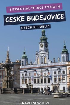 8 things to do in Ceske Budejovice in South Bohemia, an underrated city in the Czech Republic, via @travelsewhere #travel #traveltips #destinations #europe #czechrepublic #wanderlust