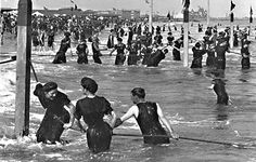 Victorian Bathing Suits :: swimming in the ocean :: visit our website at http://www.ocean-grove-nj.com