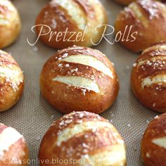 Pretzel Rolls {a family favorite!}: This may be my project for the day.