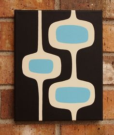 11 X 14 Original Acrylic Painting Mid Century Modern by donnamibus, recreate?