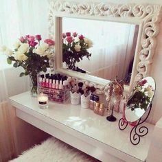 30 Super Ideas Makeup Vanity Ideas Beauty Room Make Up Make Up Storage, Glam Room, Makeup Rooms, Room Goals, My Room, Room Inspiration, Sweet Home, Room Decor, Face Products