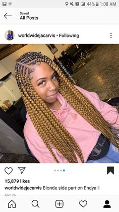 61 Totally Chic And Colorful Box Braids Hairstyles To Wear! Box Braids Hairstyles, Lemonade Braids Hairstyles, Braided Hairstyles For Black Women, Hairstyles Videos, Hairstyles 2018, Girl Hairstyles, Braids For Kids, Girls Braids, Boys Cornrows