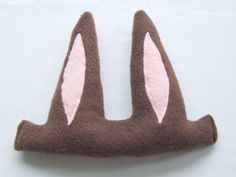 brown bunny ears - rabbit ears for kids - easter dressup - by wildimaginationshop on etsy