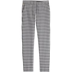 Diane von Furstenberg Genesis Gingham Pants (4 505 UAH) ❤ liked on Polyvore featuring pants, bottoms, trousers, jeans, multicolor, multi colored pants, multi color pants, slim pants, slim fit trousers and colorful pants