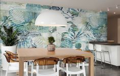 Piperita, giant stylised cloths. Cloths, Dining Table, Turquoise, Wallpaper, Furniture, Ideas, Design, Home Decor, Drop Cloths