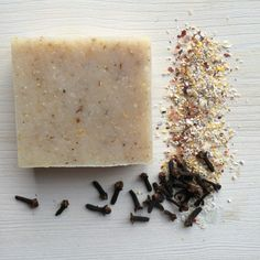 cornmeal clove soap uses stone ground corn meal for a natural exfoliant.