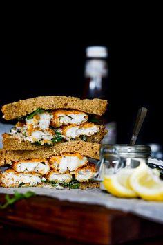 Crispy Beer Battered Fish Sandwich | Recipe | Battered Fish, Beer ...