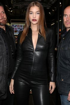 Barbara Palvin attends the opening of the first L'Oreal Paris store