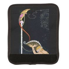 #Art Deco Design Enchanted Melody by Erté Luggage Handle Wrap - #travel #accessories