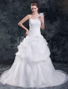 #Milanoo.com Ltd          #Wedding Dresses          #Elegant #White #Sweetheart #Neck #One-Shoulder #Floral #Organza #Bridal #Wedding #Dress                Elegant White Sweetheart Neck One-Shoulder Floral Organza Bridal Wedding Dress                                                    http://www.snaproduct.com/product.aspx?PID=5710219
