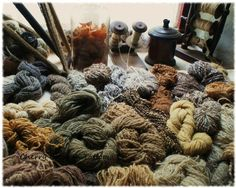 Traditional Irish hand dyed wool #breien #breiwol #breiwerk #Purewol