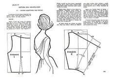 Curso completo de corte e costura de Gil Brandão - SewieBgin - Веб-альбомы Picasa Techniques Couture, Sewing Techniques, Pattern Cutting, Pattern Making, Sewing Clothes, Diy Clothes, Clothing Patterns, Sewing Patterns, Doily Patterns