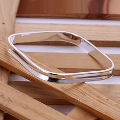 New to MillingtonsGifts on Etsy: Stunning Sterling Silver 925 Square Bracelet/Bangle (19.95 GBP)