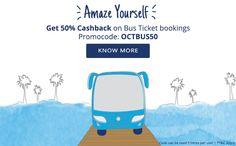 50% cashback offer on #busticket booking via @paytm. #paytmoffers   #savemyrupee