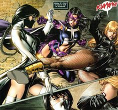 Black Canary, Starling, and Huntress