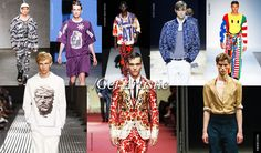 Men Trends Spring Summer 2015: Get Artistic - Get artistic with your prints opting for figurative or abstract patterns galore next summer. In 2015 print inspiration are far flung, from pop culture smileys to ancient art and even majolica tiles.