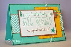 The Stamping Blok: For Caden By Rochelle Blok #rochelleblok #babycard #stampinup