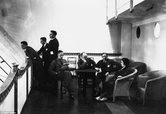 An poster sized print, approx (other products available) - November Passengers on board the lounge promenade of the Airship at Howden, Yorkshire. (Photo by Central Press/Getty Images) - Image supplied by Fine Art Storehouse - Poster printed in Australia Fine Art Prints, Framed Prints, Canvas Prints, Framed Wall, Floating Hotel, Photographic Prints, Poster Size Prints, Old Photos, Photo Mugs