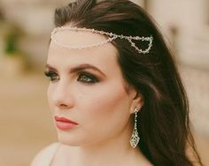 Embrace bohemian style with our new St.Tropez all crystal forehead band. Featuring a smooth circlet of Swarovski crystals in a double row design. Wedding Headband, Hair Comb Wedding, Bridal Hair, Forehead Headband, Crystal Headband, Circlet, Loose Waves, Fashion Advice, Beautiful Bride