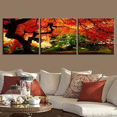 e-FOYER toile tendue art paysage aller profondément dans une forêt décoratif ensemble de trois de peinture – CAD $ 97.29