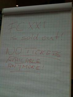 FedCon XXI: Ausverkauft