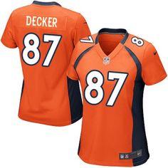 Game Womens Nike Denver Broncos http://#87 Eric Decker Team Color Orange NFL Jersey$69.99