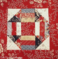 Benjamin Franklin Mystery Block 7 - A series of block of the month. Strip Quilts, Scrappy Quilts, Quilt Blocks, Quilt Kits, Mini Quilts, Pattern Blocks, Quilt Patterns, Block Patterns, Benjamin Franklin
