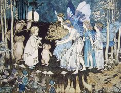 Works on Paper - Ida Rentoul Sherbourne Outhwaite - Australian Art Auction Records Fairytale Fantasies, Fairytale Art, Woodland Creatures, Magical Creatures, Fairy Land, Fairy Tales, Fairy Paintings, Vintage Fairies, Love Fairy