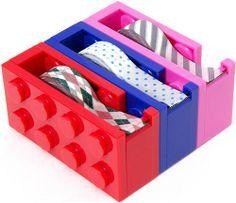 red lego brick adhesive tape dispenser cutter
