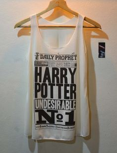 The Daily Prophet News Harry Potter Undesirable No.1 Pop Punk Rock Tank Top Vest Ladies Freesize #HarryPotter