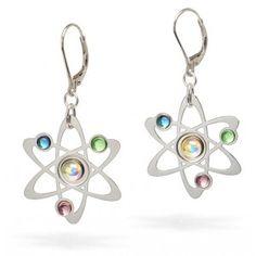 Rutherford-Bohr earrings
