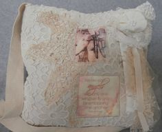 Romantic Handmade Shabby Chic Lace Embellished by CrossMyHeartBags