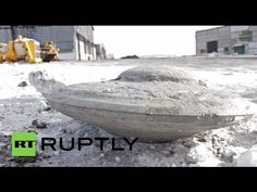 """Coal miners in Siberia's Kuznetsk Basin, Russia, have found, buried 40 meters underground, a saucer-shaped object that UFO researchers claim is an ancient alien """"flying saucer"""" ."""