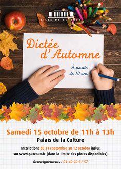 Dictée Du0027automne De Puteaux   Samedi 15 Octobre 2016