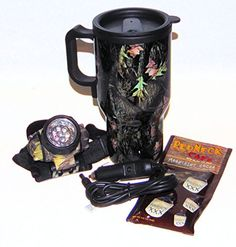 Camouflage Heated Car or Boat Travel Mug, LED Headlamp and Moonshine Bourbon Flavor Cocoa Mix Gift Set Thundles http://www.amazon.com/dp/B01BW207Z2/ref=cm_sw_r_pi_dp_Xfx8wb0TK5QW0